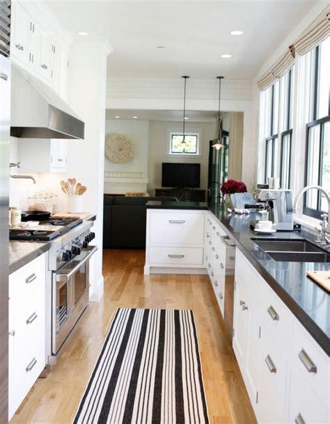 farmhouse galley kitchen modern farmhouse rue mag