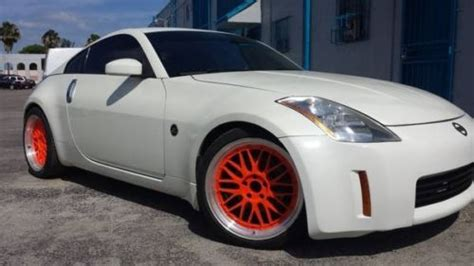 white nissan 350z modified purchase used 2004 nissan 350z pearl white custom 19
