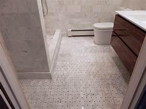 marble threshold with flush trim bathroom modern and With marble threshold bathroom