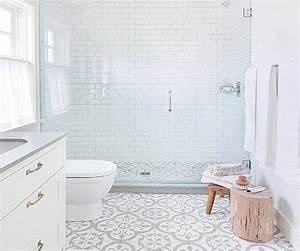 la deco salle de bain en carreaux de ciment c39est chouette With salle de bain avec carreaux de ciment