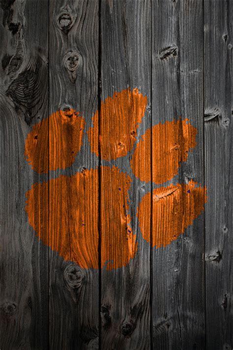 Clemson Tigers Football Wallpaper Clemson Tigers Wood Iphone 4 Background Clemson Tigers