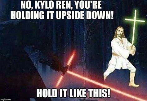 Kylo Ren Memes - kylo ren vs jesus imgflip