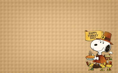 Free Snoopy Thanksgiving Wallpaper