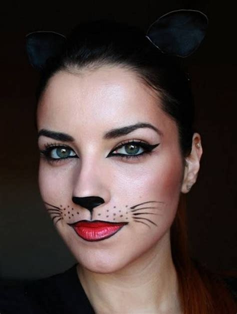 maquillage chat simple femme