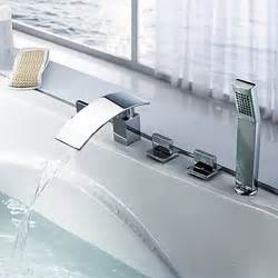 tub faucet water waterfall faucets for tubs bathroom