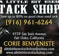 A little bit used tack shop