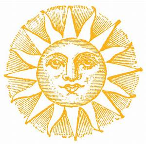 Vintage Clip Art - Old Fashioned Sun with Face | Vintage ...
