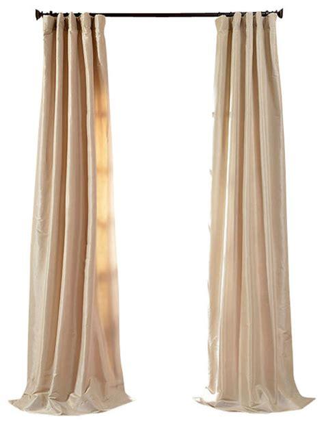 antique beige faux silk taffeta curtain traditional
