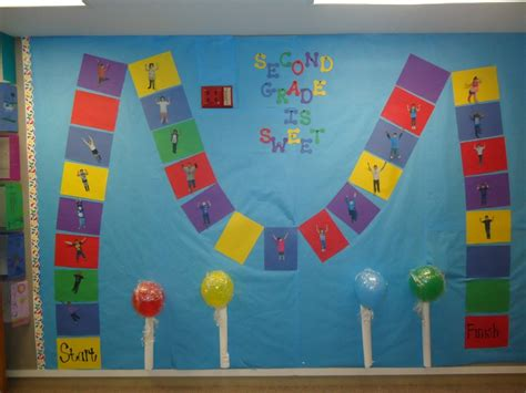 Candyland Themed Bulletin Board. I Used It During The
