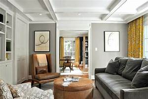 Image, Result, For, Brown, Leather, Sofa, Dark, Gray, Walls