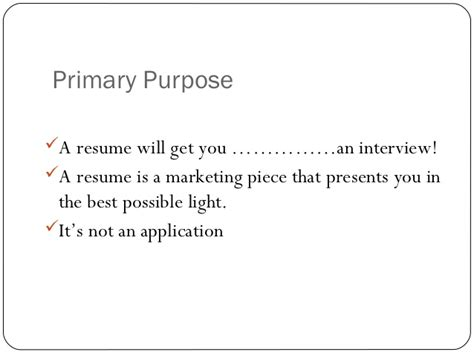 Resume Preparation For Freshers Ppt by Resume Format Presentation For Cv Writing