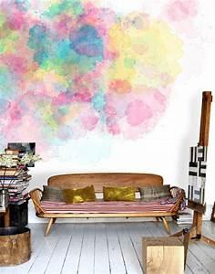 Wand Streichen Ideen Schlafzimmer : kreative wandgestaltung mit wasserfarben f r ein kunstvolles zuhause ~ Markanthonyermac.com Haus und Dekorationen