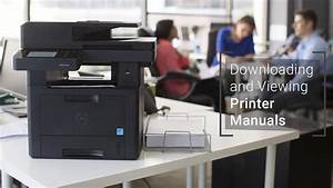 Find Your  Dell  Printer User Guide For Viewing Or