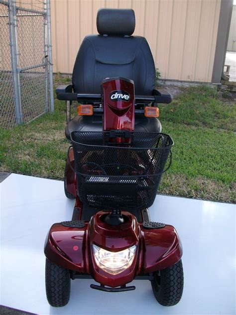 drive medical odyssey lx power scooter  scooter red