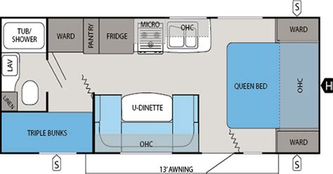 travel trailer floor plans with bunk beds bunkhouse travel trailer floor plans gurus floor