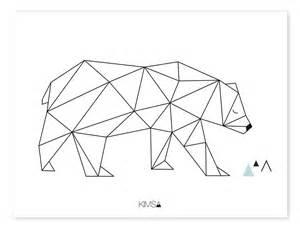 wandgestaltung streifen ideen lilipinso kinder poster 39 origami bär 39 schwarz weiß 30x40cm bei fantasyroom kaufen