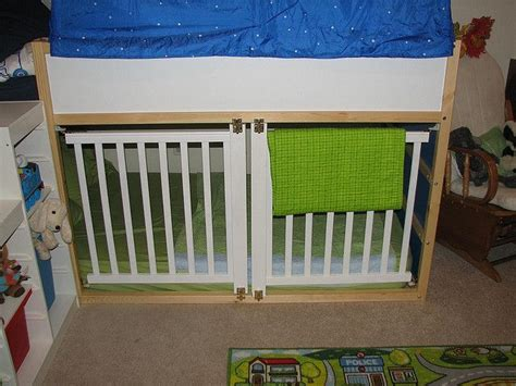 Kura Loft Bed From Ikea, With Sides Of A Cheap Crib Cut To