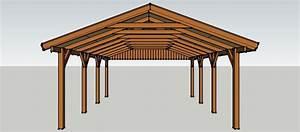 Carport Günstig Selber Bauen : carport 5 x 7 meter mit satteldach aus holz zum selber ~ Michelbontemps.com Haus und Dekorationen