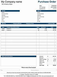 Pro Forma Purchase Order Template Purchase Order Template Excel Invoice Template Word
