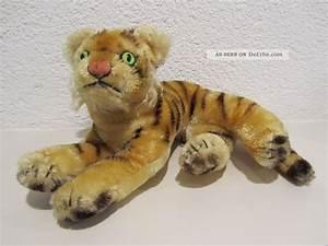 Steiff Tiere Alt : steiff tiger jungtiger liegend 28 cm 50er 60er 70er jahre alt ~ Watch28wear.com Haus und Dekorationen
