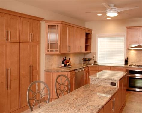 shaker maple cabinets home
