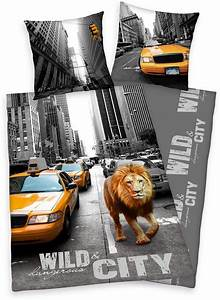 New Yorker Bademode : wendebettw sche new york lion young collection mit motiv online kaufen otto ~ Yasmunasinghe.com Haus und Dekorationen