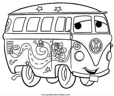 bulli  gratis malvorlage  autos transportmittel ausmalen