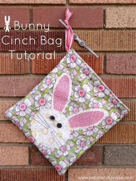 tutorial easter bunny cinch bag sewing