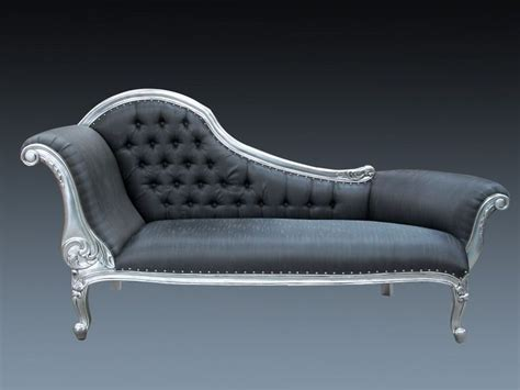 designer chaise longue in silver the furniture