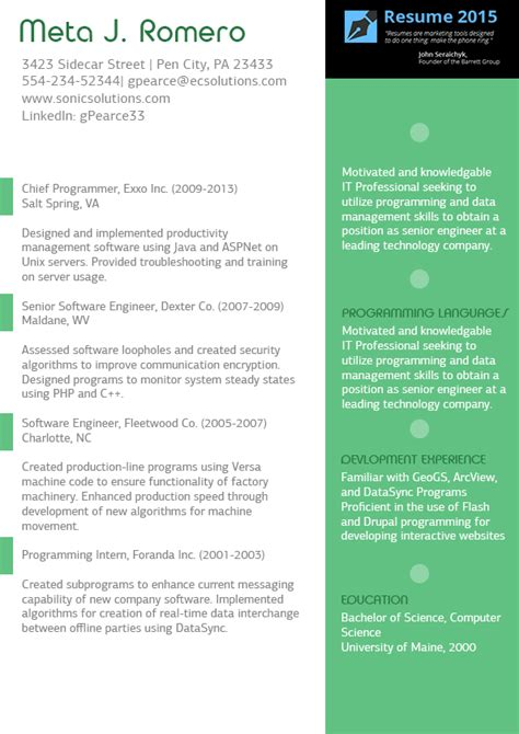 Best Designed Resumes 2015 by Professional Executive Resume Sle 2015 2016
