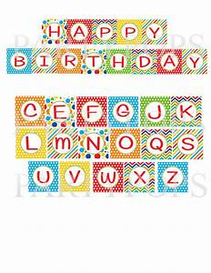 primary happy birthday printable party banner letter With party banner letters
