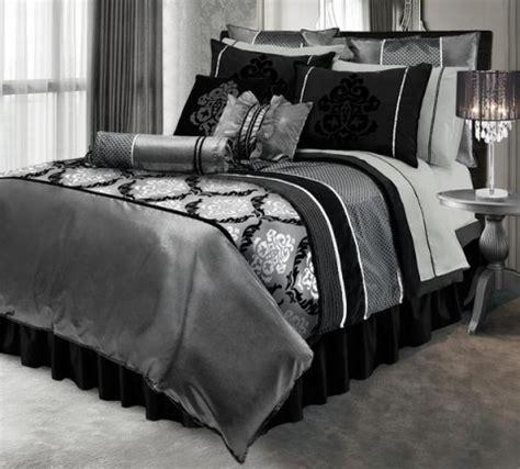 furniture black and silver bedroom set black and silver duvet set by home bedroom