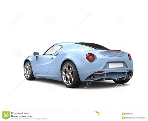 light sky blue modern luxury sports car view stock