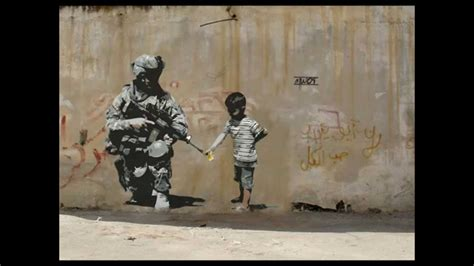 Famous Banksy Graffiti Art