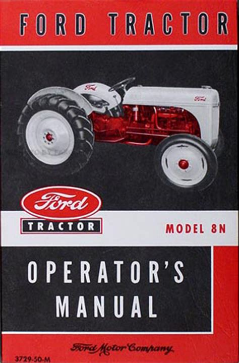ford tractor model  reprint service manual