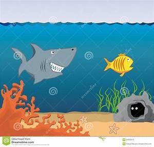 Cartoon Underwater World. stock illustration. Illustration ...