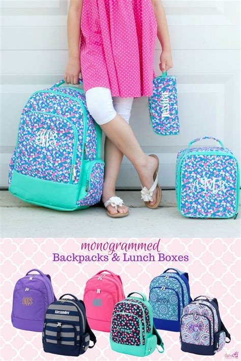 check   cute backpacks send    school  style monogrammed backpack fo