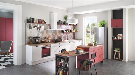cuisines equip馥s cuisine équipée design avec îlot prem 39 s blanche cuisinella