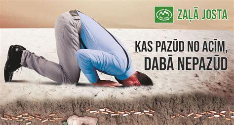 Lai uzsvērtu cigarešu izsmēķu kaitīgo ietekmi uz vidi, t/c ...
