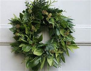 Evergreen and ivy wreath h o l i d a y s