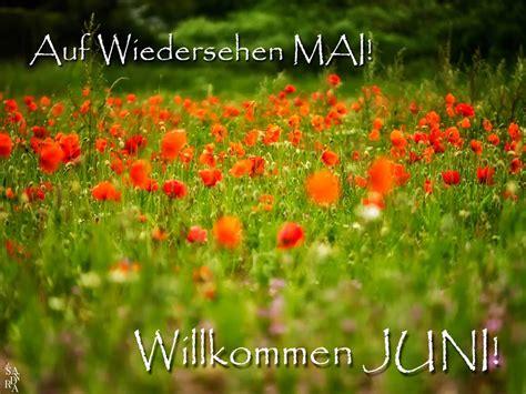 auf wiedersehen mai willkommen juni juni bild