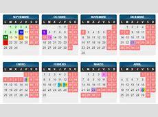 Calendario escolar de Aragón en el curso 20162017