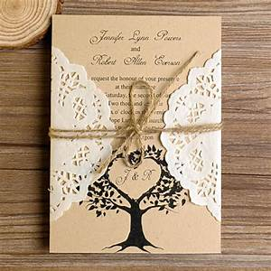 love tree rustic made in south korea lace pocket wedding With rustic wedding invitations south africa