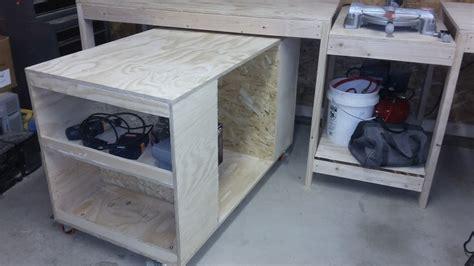 ana white miter  stand  rolling tool storage