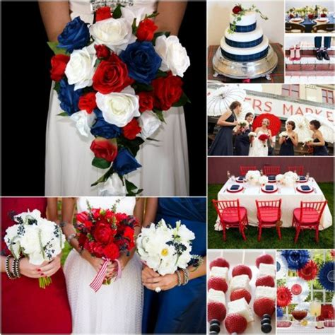 red blue and white wedding decorations 2 takes on a red white and blue weddingbeau coup blog