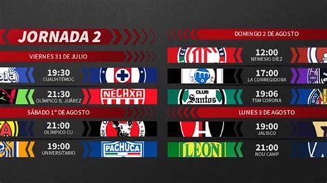 Liga MX: Fechas y horarios del Guardianes 2020, jornada 2 ...