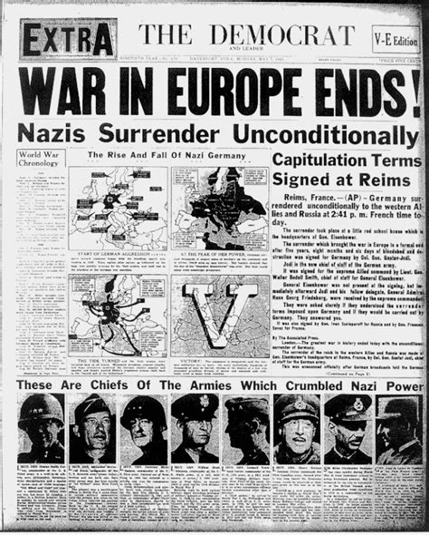 world war ii ends historic front pages history newspaper and newspaper headlines