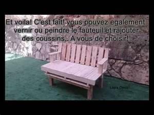 Fauteuil En Palette Facile : comment fabriquer un fauteuil en palettes super facile youtube ~ Melissatoandfro.com Idées de Décoration