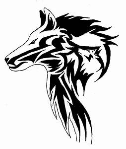 Tribal Wolf Head by hiddenxinxshadows on DeviantArt