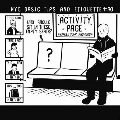 Etiquette Basic Tips Nyc Subway Gifs Bag
